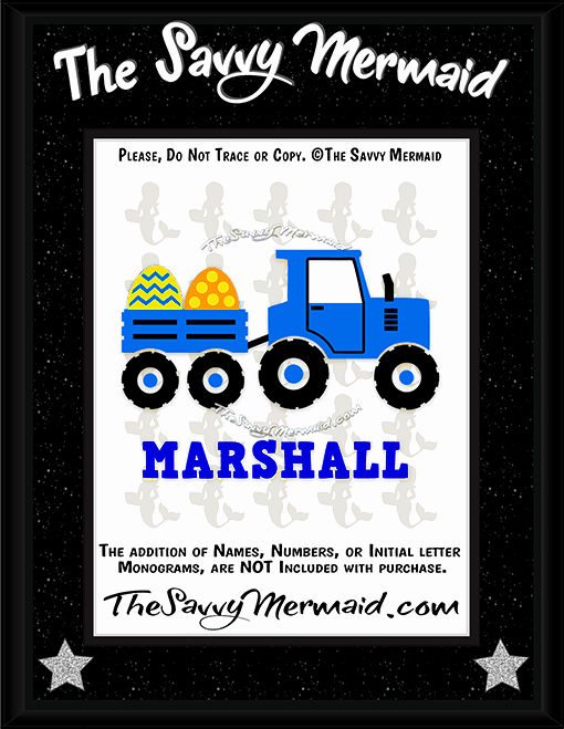 Easter Egg Tractor and wagon - The Savvy Mermaid