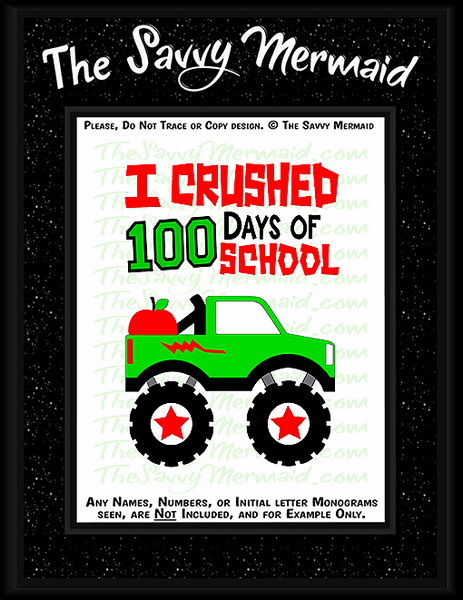 100th Day of School - 100 days Truck