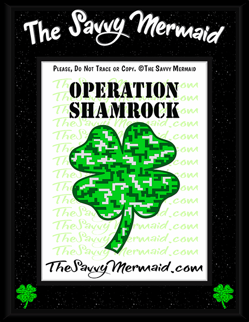 St. Patrick's Day Digital Camo Shamrock - The Savvy Mermaid