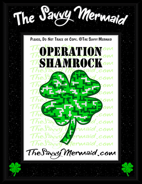 St. Patrick's Day Digital Camo Shamrock