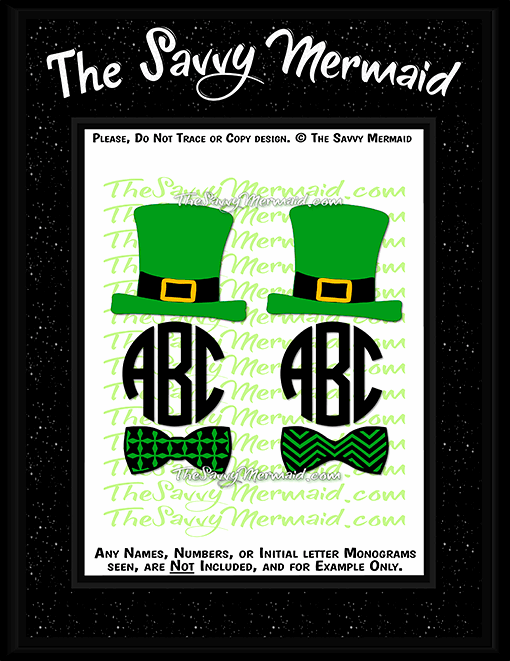 St. Patrick's Day Monogram frames - The Savvy Mermaid