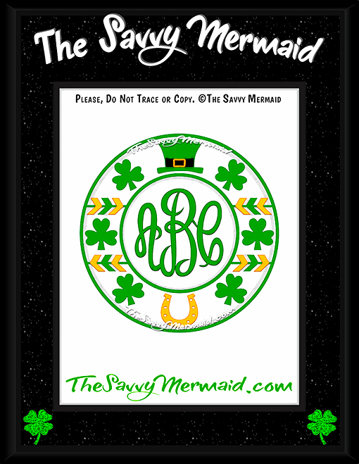 St. Patrick's Day Tribal Monogram - The Savvy Mermaid