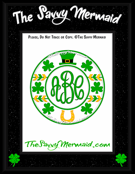St. Patrick's Day Tribal Monogram