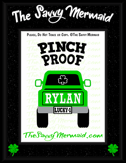St. Patrick's Day Truck - Pinch Proof - The Savvy Mermaid