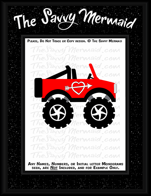 Valentine's Day Jeep - Monster Truck - The Savvy Mermaid