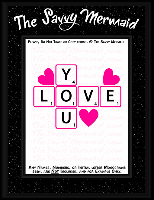 Valentine's Day Scrabble & Hearts - The Savvy Mermaid
