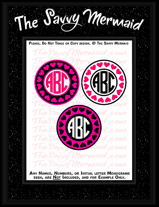 Valentine's Day Monogram Frame set - The Savvy Mermaid