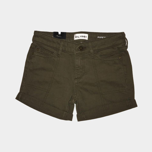 DL 1961 Olive Denim Shorts