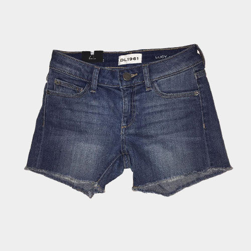 DL 1961 Denim Fringe Shorts
