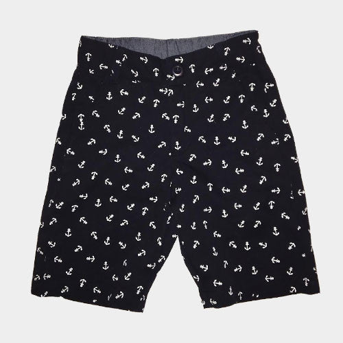 Navy Anchor Shorts