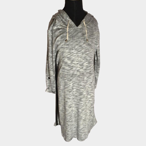 Heather Grey Active Hoodie Dress