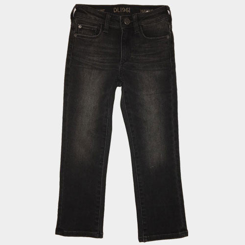 DL 1961 Hawk Garcia Worn Black Denim