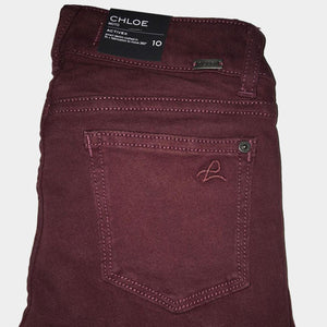 DL 1961 Chloe Moto in Dark Cherry