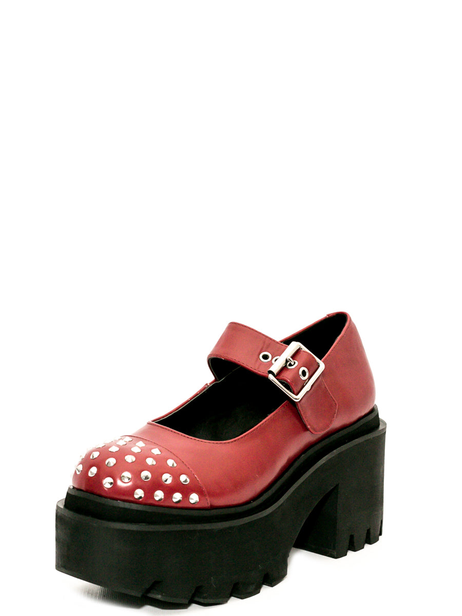 Metal Mary Oxblood Platform