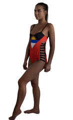 Antigua and Barbuda Caribbean women's reversible swimsuit
