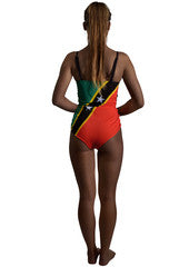 St Kitts and Nevis Caribbean women's reversible swimsuit