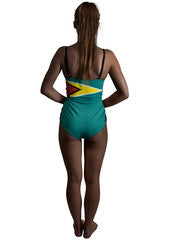 Guyana Caribbean women's reversible swimsuit