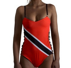 Trinidad and Tobago Caribbean women's reversible swimsuit