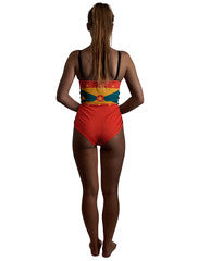 Grenada Caribbean women's reversible swimsuit