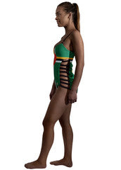 Dominica Caribbean women's reversible swimsuit