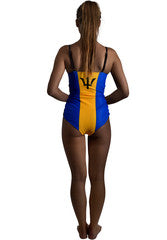Barbados Caribbean women's reversible swimsuit