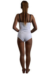 Women's reversible swimsuit, white monokini