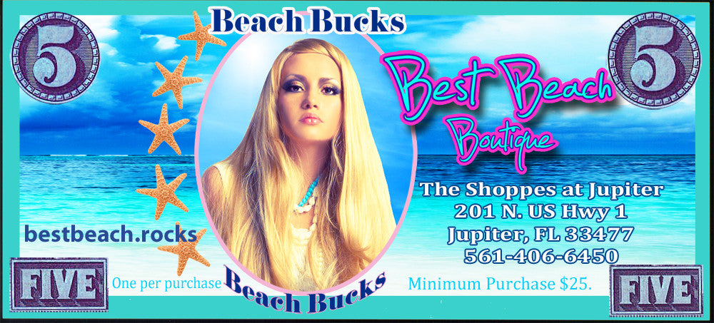 Beach Bucks Welcome Reward