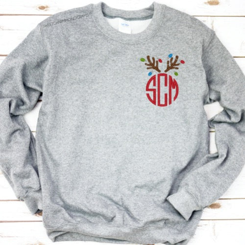 Christmas Monogram Sweatshirt  |  Lots of Designs!