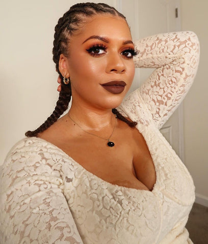 Braided Double Cornrows protective hairstyle