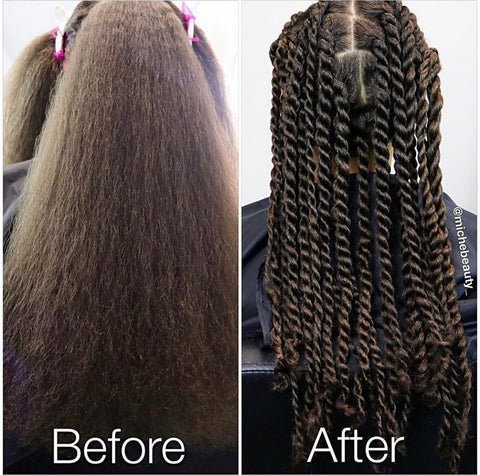 Before And After Hair Trim On Natural Hair