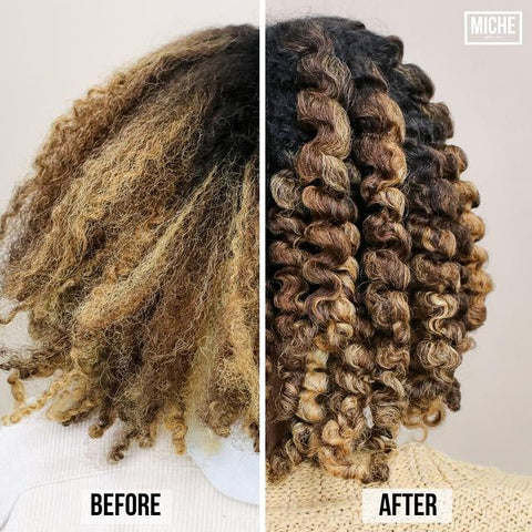 Twist-Out Before and After on Natural Hair