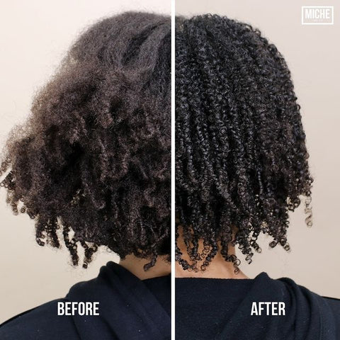 Before And After Miche Beauty Sculpt Curl Defining Gel