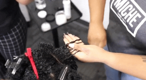 smooth gel Into natural hair for defined curls