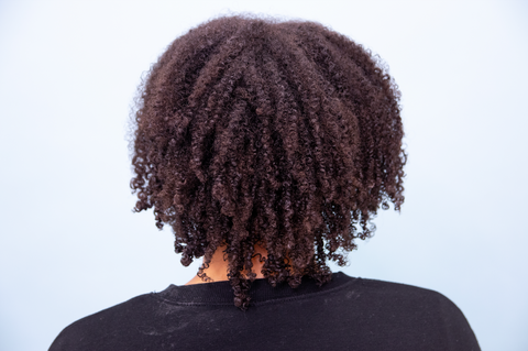 Uneven Natural hair before a Curly Cut