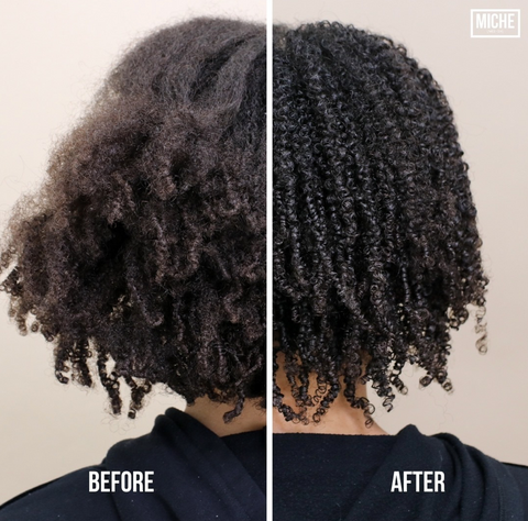 Natural Hair wash and go style defining curls