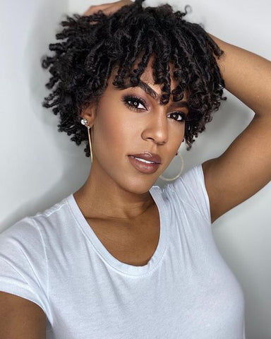 Finger Coils Short Natural Hairstyle Miche Beauty