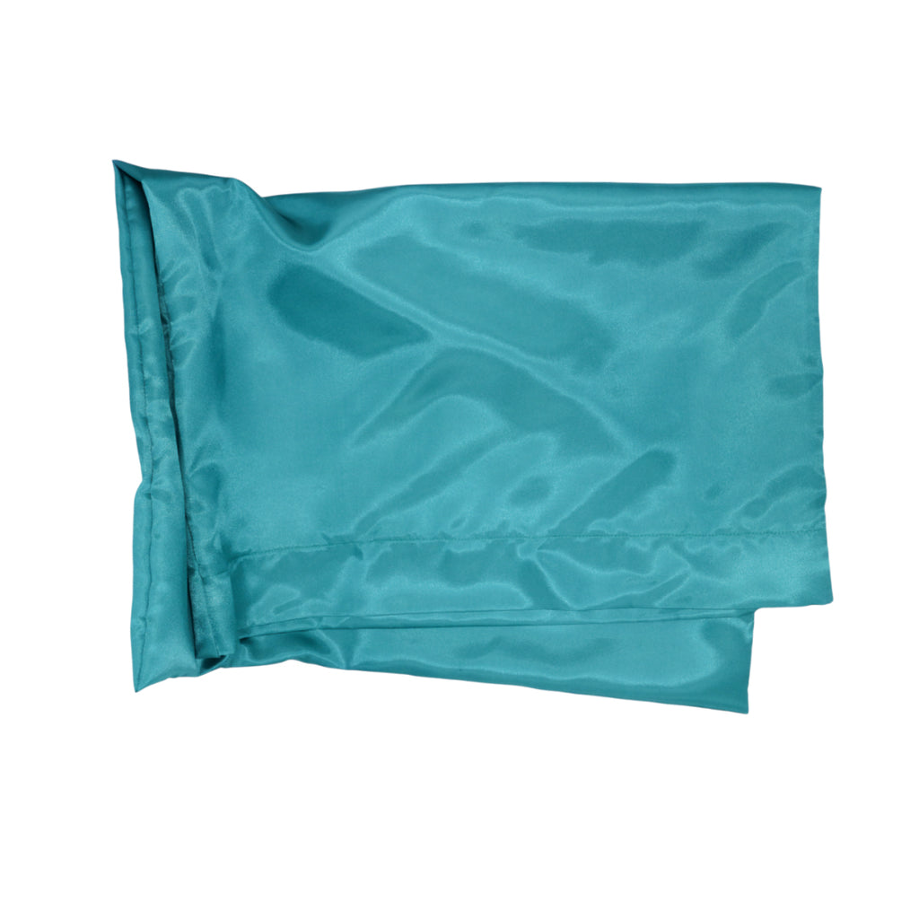 Vibrant Teal Satin Pillowcase (4604346761274)