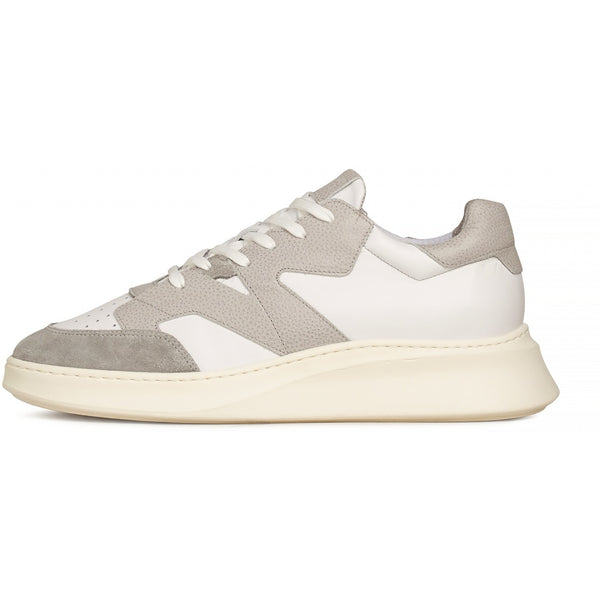 Manhatten Sneaker, white grey leather