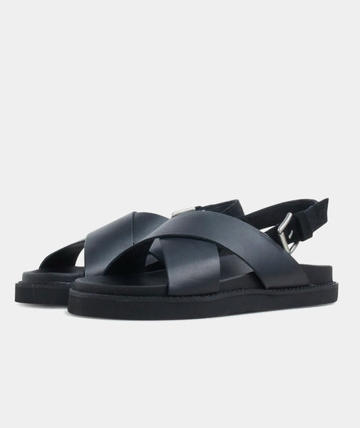 Yodo Sandals, black leather