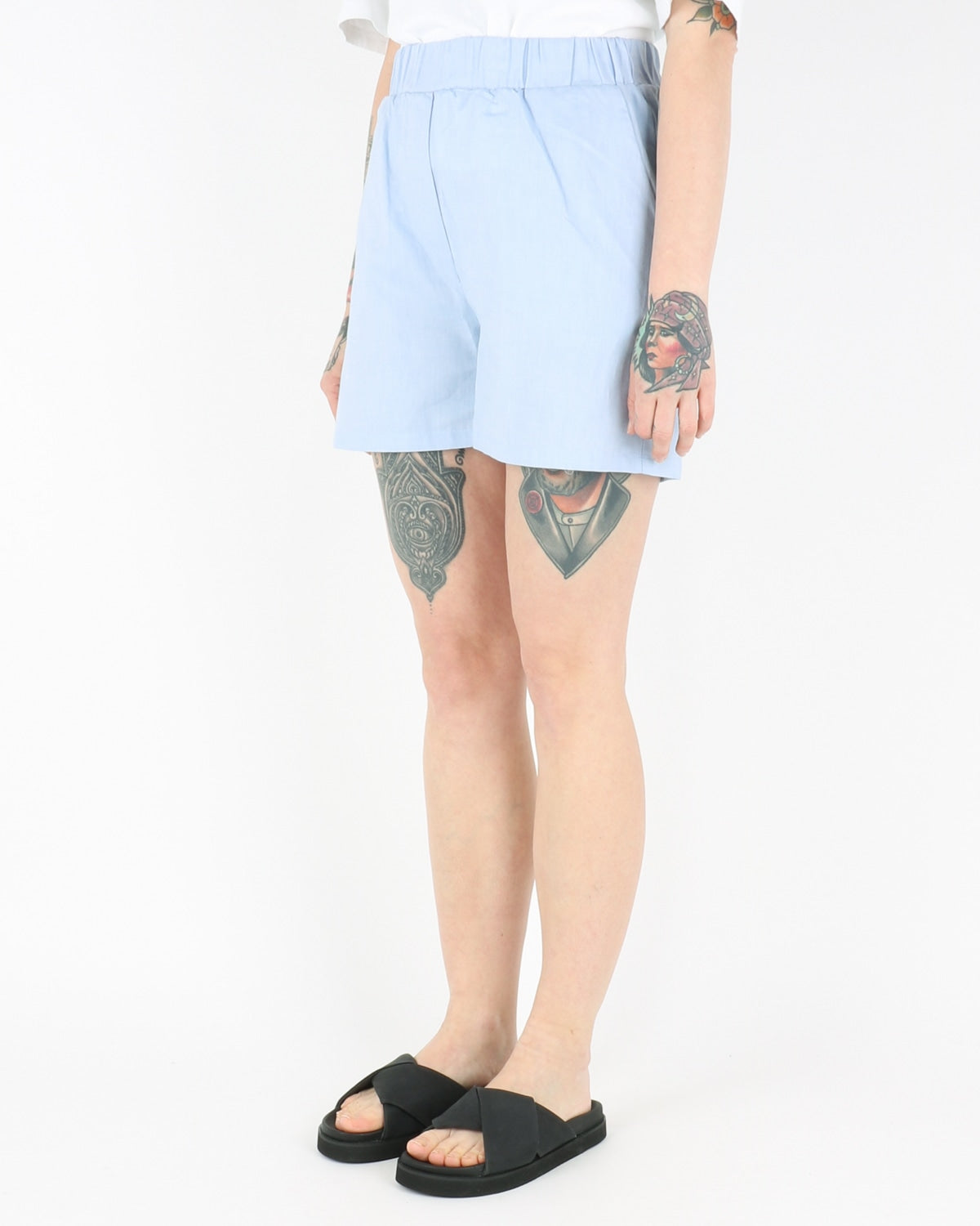 basic apparel_helle shorts_light blue_2_3