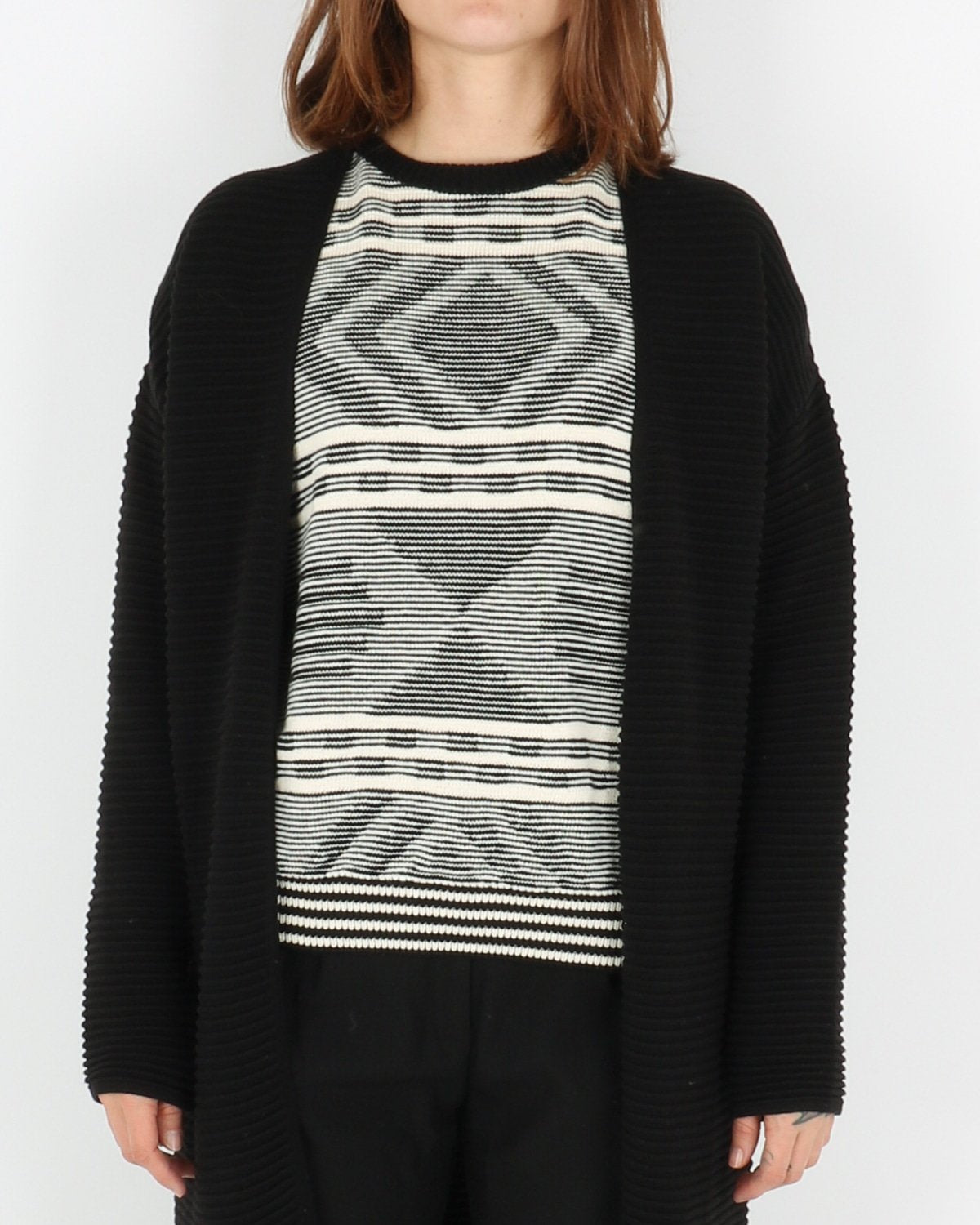 basic apparel_istabella cardigan_black_1_3
