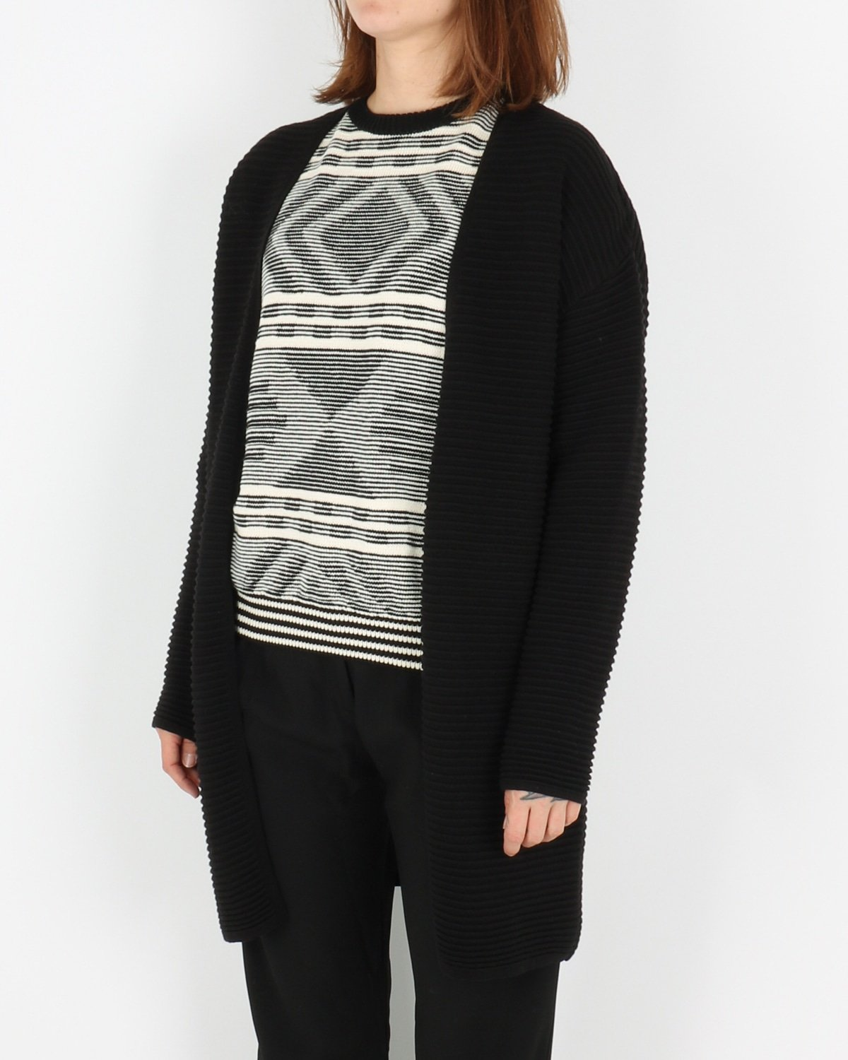 basic apparel_istabella cardigan_black_2_3