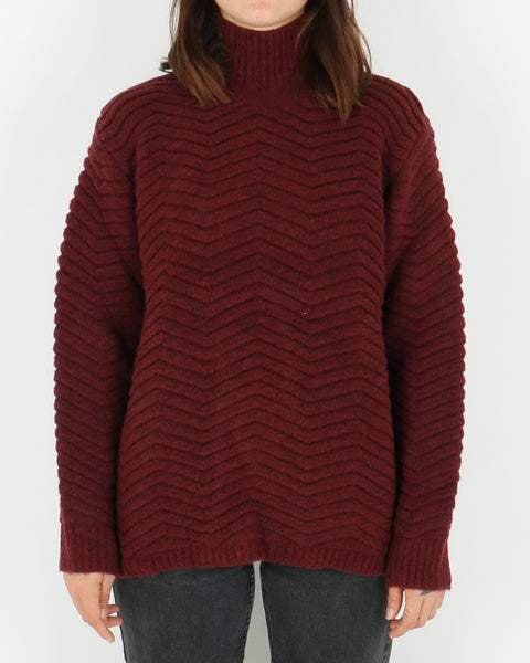 basic apparel_nille knit_ras red_view_1_3