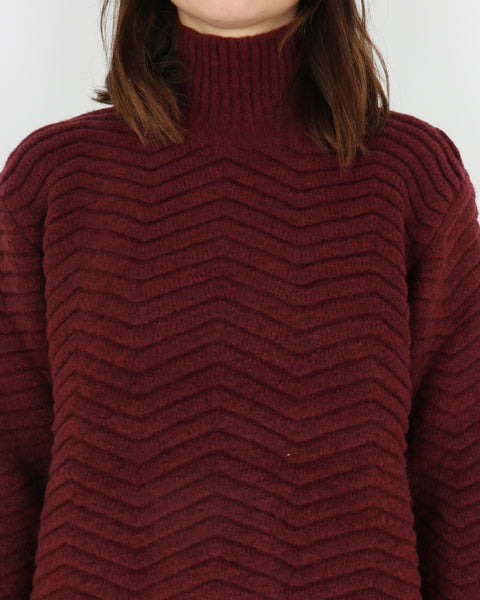 basic apparel_nille knit_ras red_view_3_3