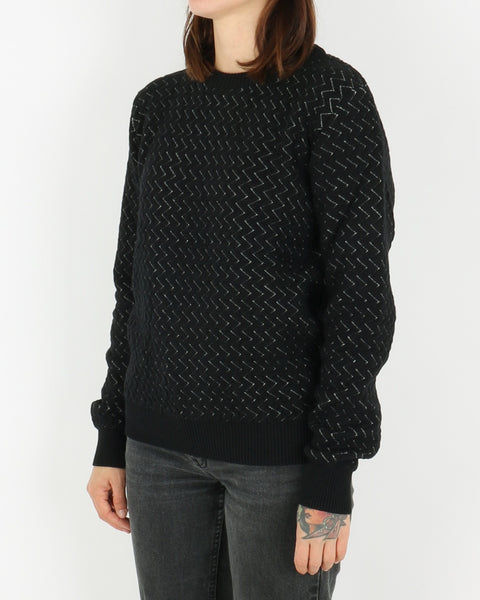 basic apparel_tea knit_black_view_2_3