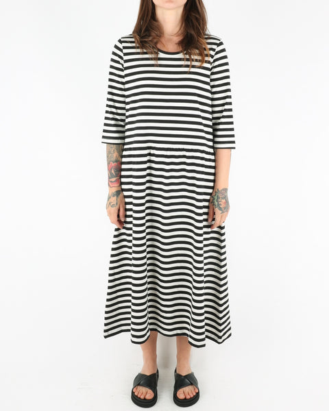 basic apparel_elba dress_black off white_1_3
