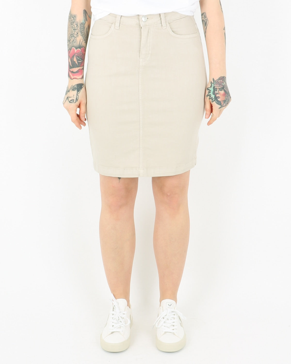 basic apparel_eve denim skirt_khaki_1_2