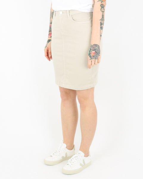 basic apparel_eve denim skirt_khaki_2_2