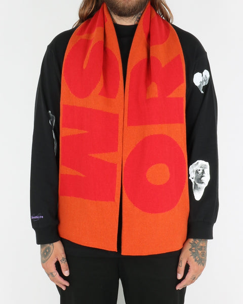 carne bollente _never enough scarf_orange_view_1_2