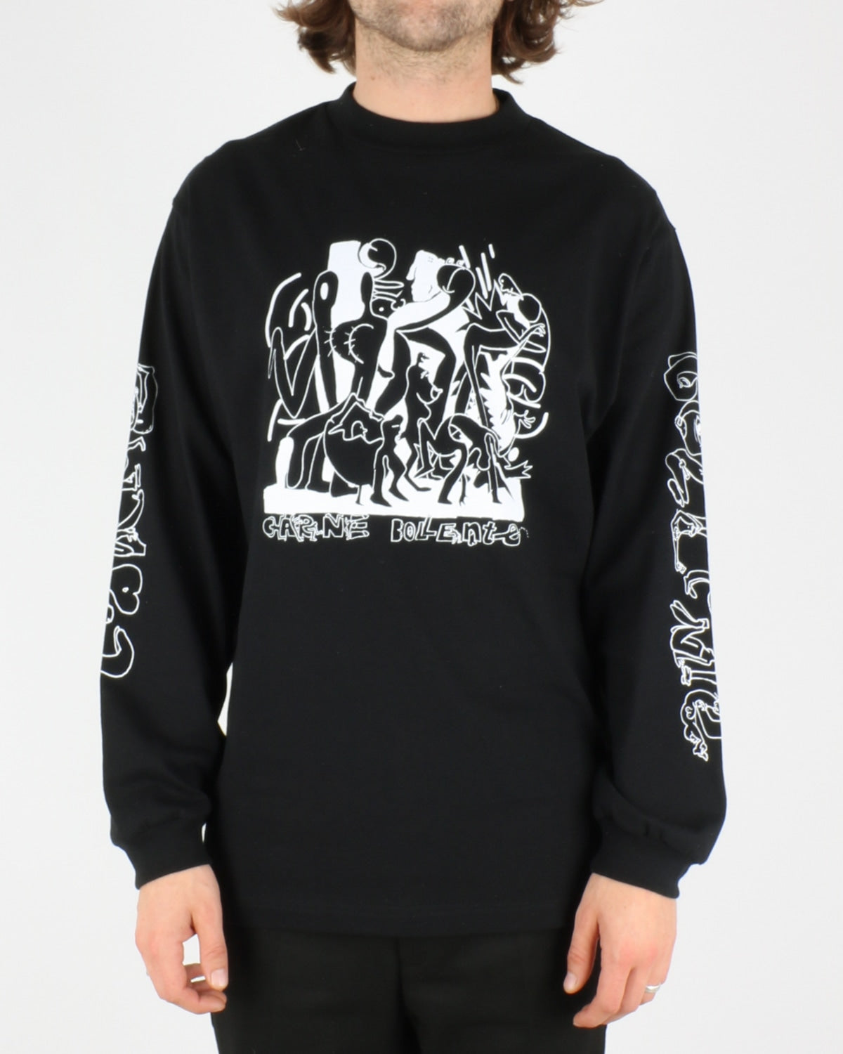 carne bollente_chicken wings of desire longsleeve_black_1_5